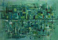 schilderij kunstig art Margje down town