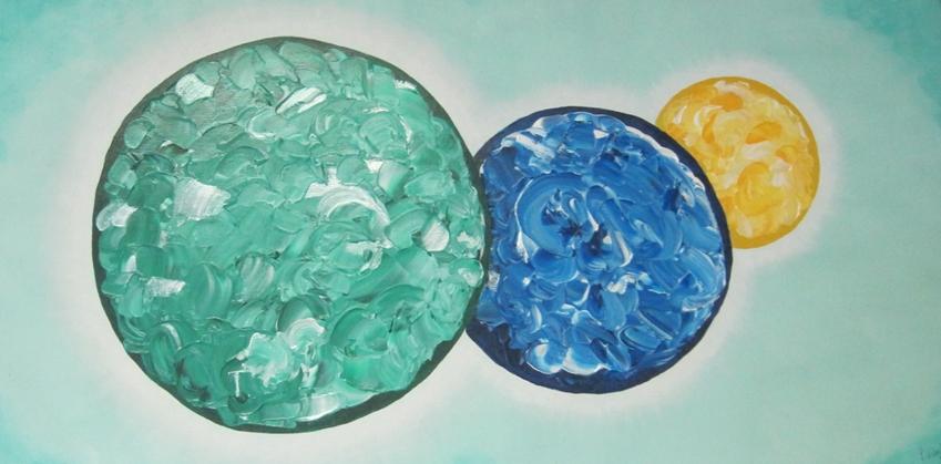 Atelier Kunstig Art schilderij In line