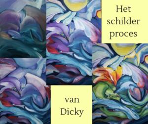Atelier Kunstig Art schilder proces