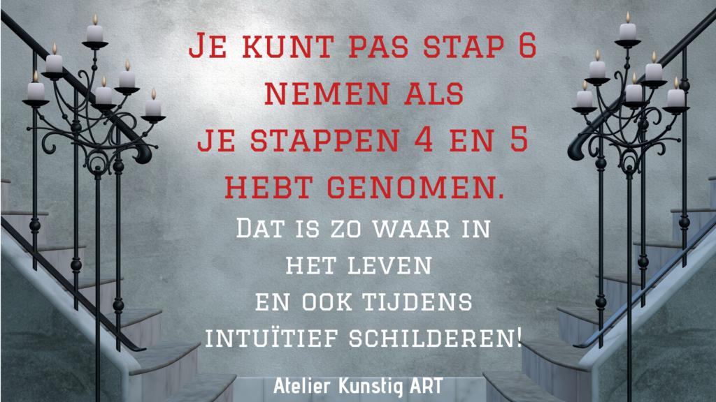 intuïtief schilderen is net als het leven kunstigart.nl