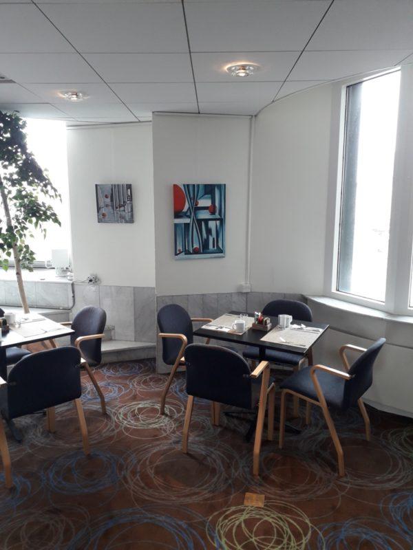expositie Sylvia te Braake in hotel Hilton Stockholm