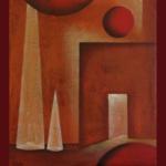 Atelier Kunstig Art schilderij Doorgang