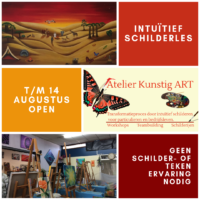 intuïtief schilderen in de zomer bij kunstig art