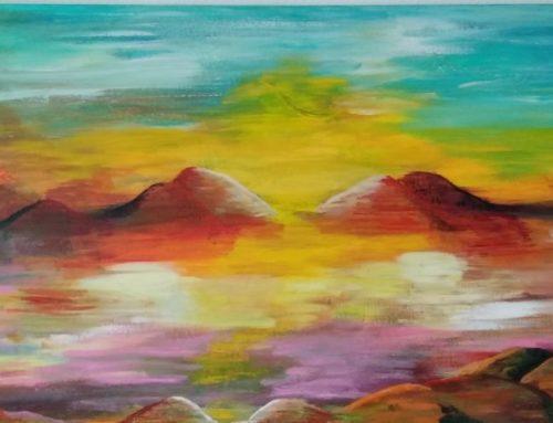 """View over Wadi Rum"" van Moniek Muskee"