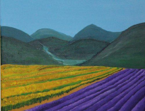 """Lavendelveld"" van Henny Vink"