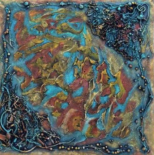 Allemaal dieren Kunstig Art 90 x 90 cm intuïtief schilderen