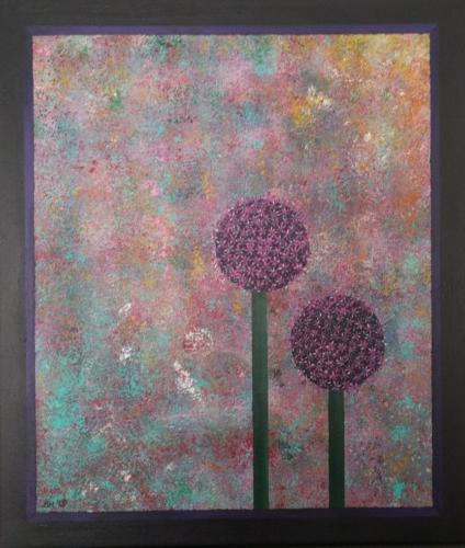 Allium - kunstigart.nl - 80 x 60 cm