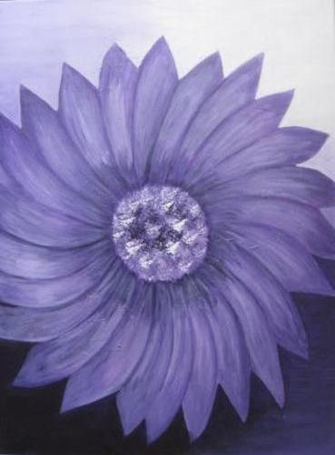 Flower power - kunstigart.nl - 80 x 60 cm