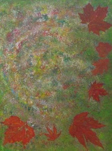 Herfst kunstigart.nl 80 x 60 cm Verkocht