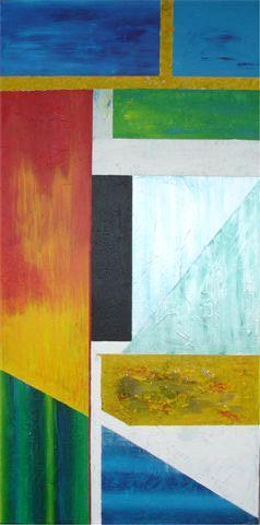 Lijnen - kunstigart.nl - 80 x 40 cm