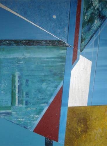 Lijnenspel - kunstigart.nl - 100 x 80 cm
