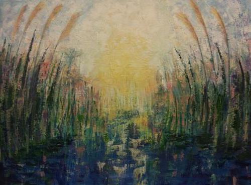 Morgenlicht - kunstigart.nl - 60 x 80 cm. Te koop
