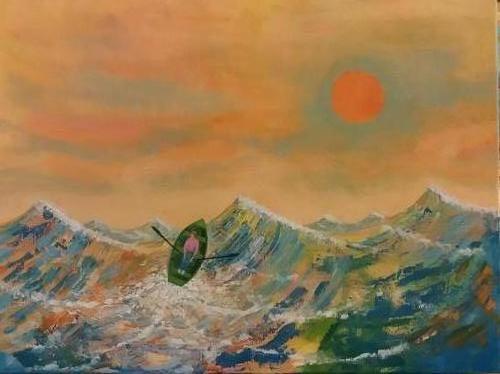 Op zee - kunstigart.nl - 60 x 80 cm. Niet te koop