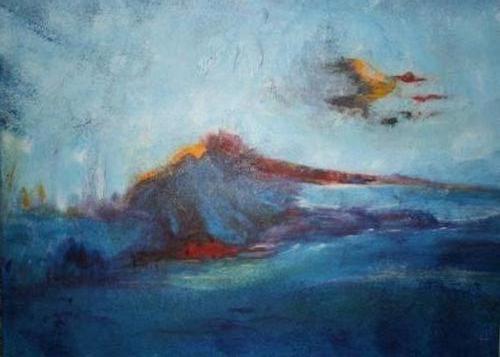 Vlucht - kunstigart.nl - 60 x 80 cm