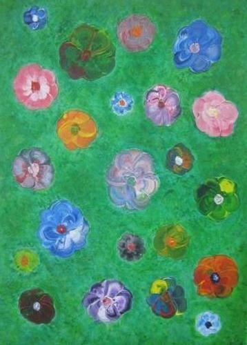 Zeg t met bloemen kunstigart.nl 70 x 50 cm Verkocht