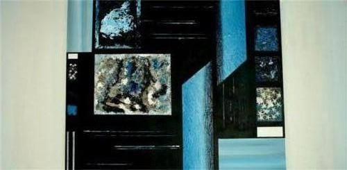 Zwart blauw - kunstigart.nl - 60 x 120 cm