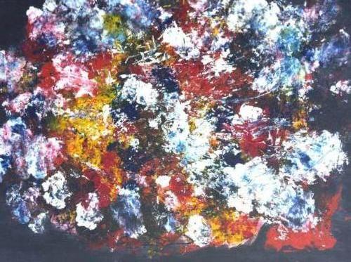 bloemen kunstig art 60 x 80 cm