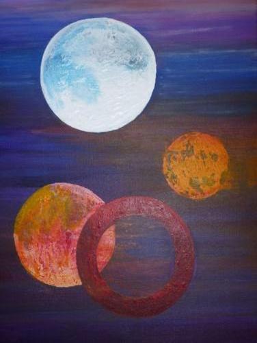 cirkels - kunstigart.nl - 80 x 60 cm