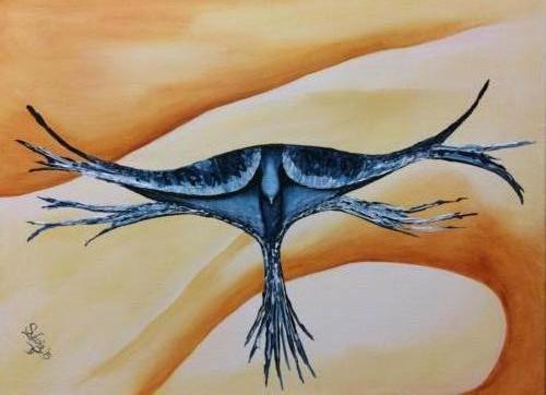 Dankbaarheid -Kunstig Art - 60 x 80 cm intuïtief schilderen