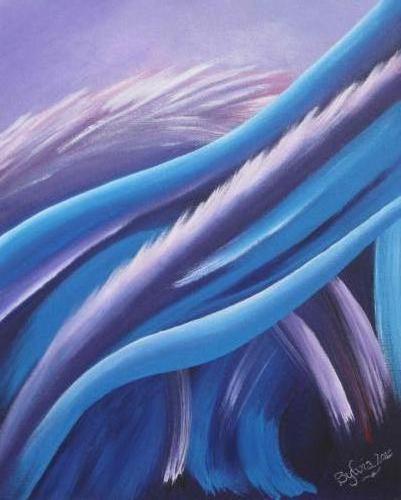 Gewoon doen I - Kunstig Art - 60 x 40 cm Intuïtief schilderen