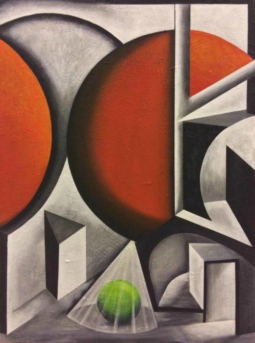In het licht - Kunstig Art - 80 x 60 cm intuïtief schilderen