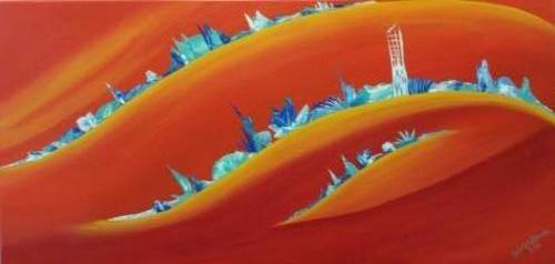 New horizons - Kunstig Art - 50 x 100cm intuïtief schilderen