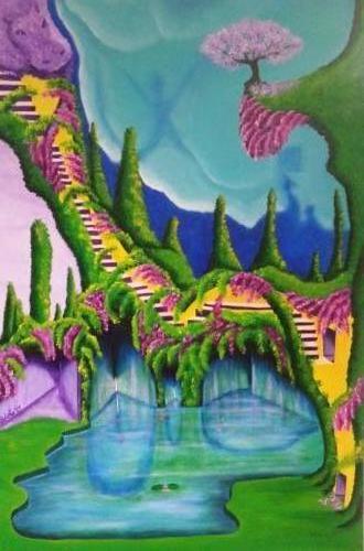Next level - Kunstig Art - 80 x 60 cm intuïtief schilderen