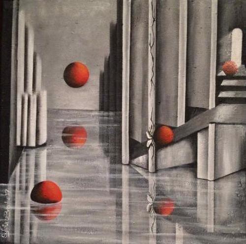 Oeps - Kunstig Art - 50 x 50 cm intuïtief schilderen