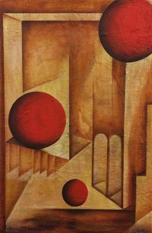 Togen - Kunstig Art - 100 x 70 cm intuïtief schilderen