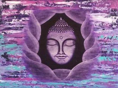 Zen in de chaos -Kunstig Art - 60 x 80 cm intuïtief schilderen