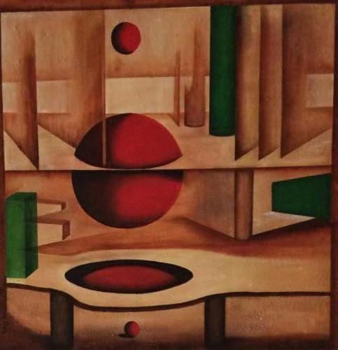 Doorbraak - Kunstig Art - 80 x 80 cm intuïtief schilderen