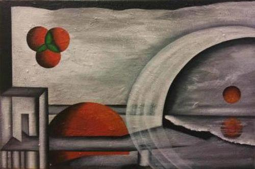 Eenheid - Kunstig Art - 40 x 60 cm intuïtief schilderen